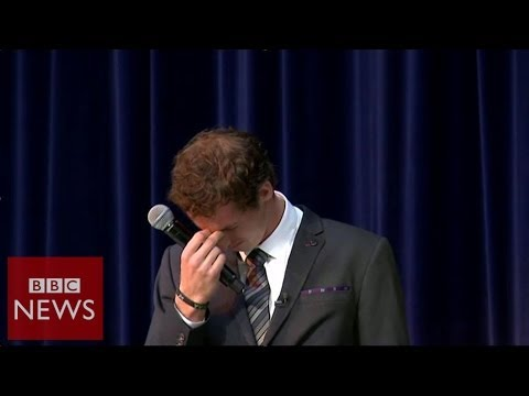 Why did Andy Murray break down in tears? BBC News
