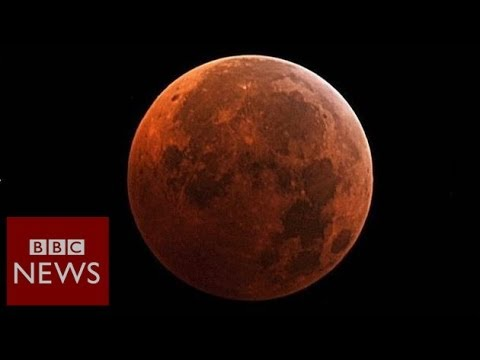 Why is the Moon 'blood red'? BBC News