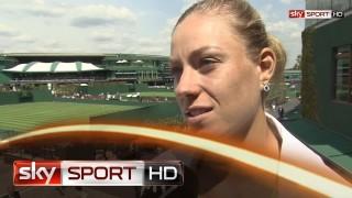 """Wimbledon 2014 – Kerber: """"Mein Körper war nicht 100 Prozent fit"""""""