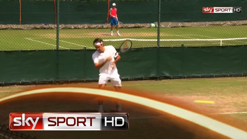 Wimbledon 2014, Schweizer Duell geht an Federer