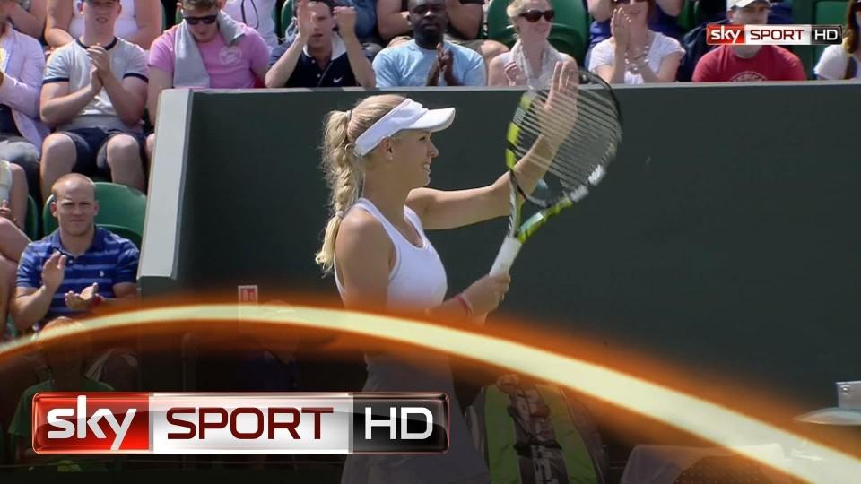 Wimbledon 2014: Wozniacki im Achtelfinale – Halep kämpft