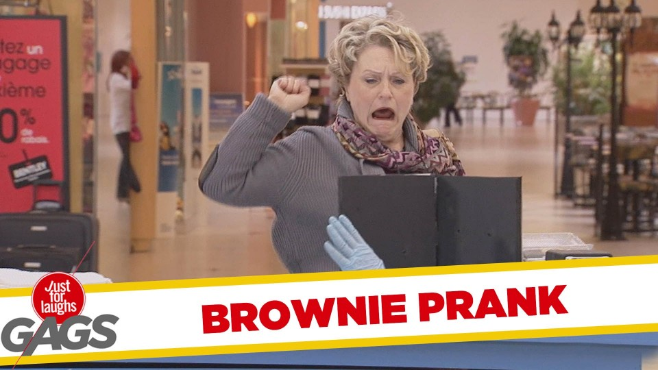 Back Away from the Brownie Prank