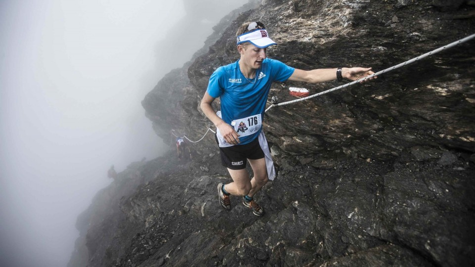 Extreme mountain running race in Italy