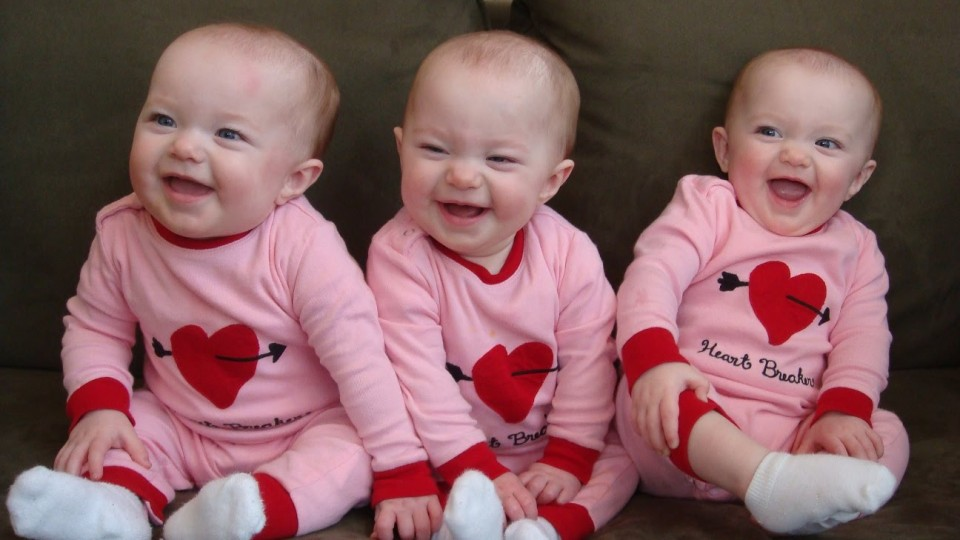 Funny Triplet Babies Laughing Compilation 2014 [NEW HD]