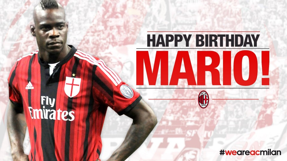 Happy Birthday Mario Balotelli! | AC Milan Official