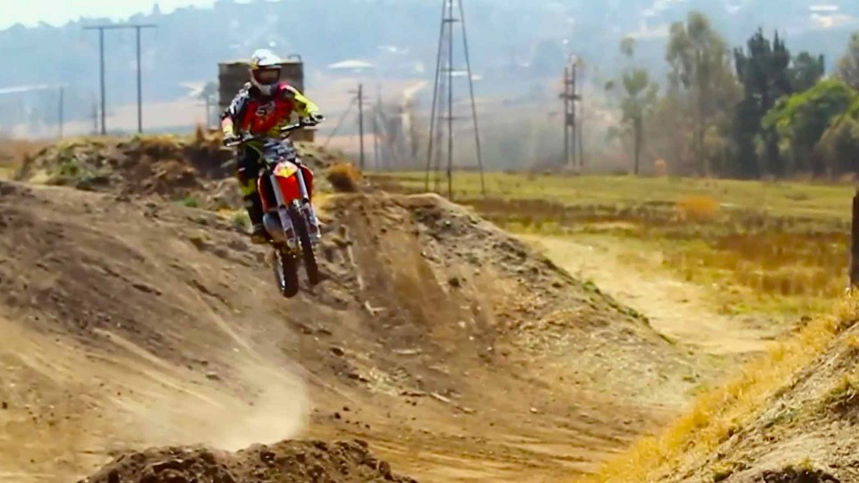 Nick de Wit's backyard freestyle motocross course