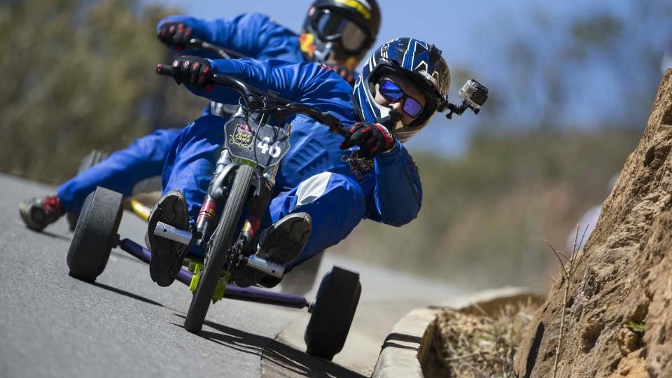 High Speed Downhill Trike Racing