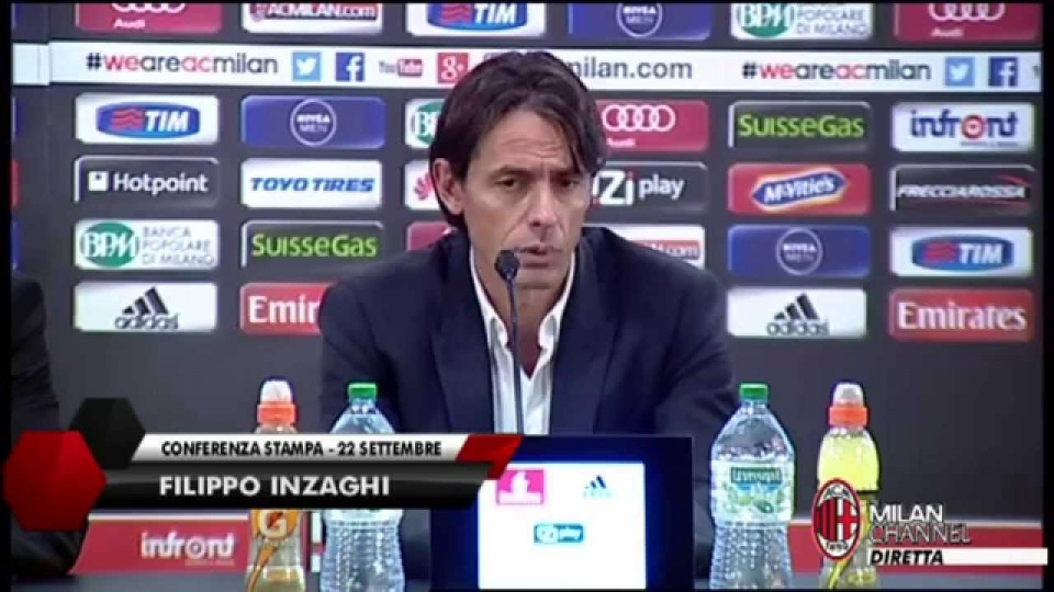 "Inzaghi: ""Match importante con l'Empoli"" 