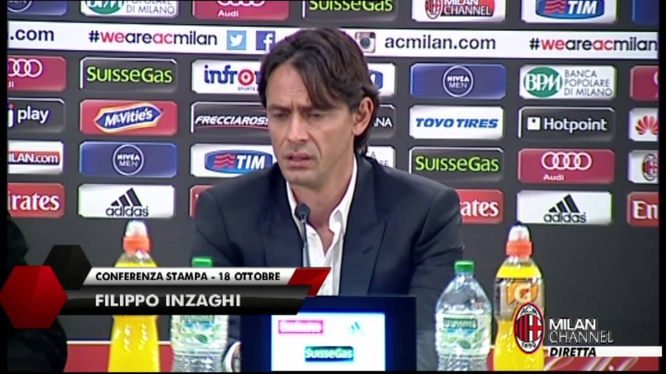 "Inzaghi: ""El Shaarawy arrabbiato? Ci sta"" | AC Milan Official"