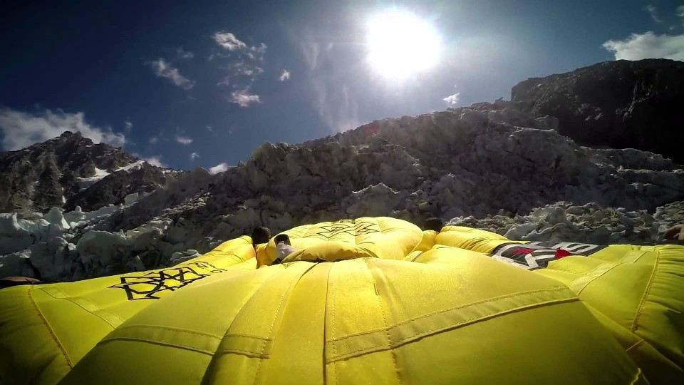 Reverse Wingsuit Flying in the French Alps