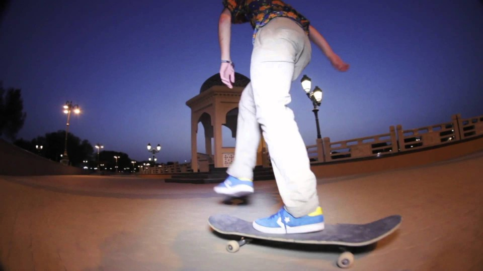 Skateboarding through the Intense Heat of Oman