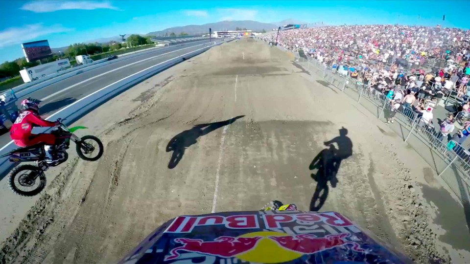 Travis Pastrana's Backflip Finish GoPro Run – Red Bull Straight Rhythm