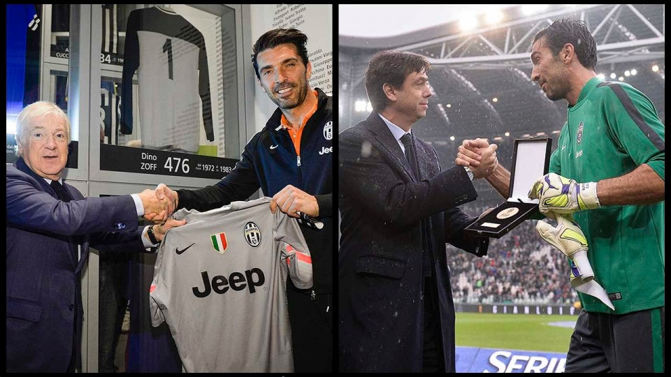 500 volte Buffon – Buffon joins 500 club