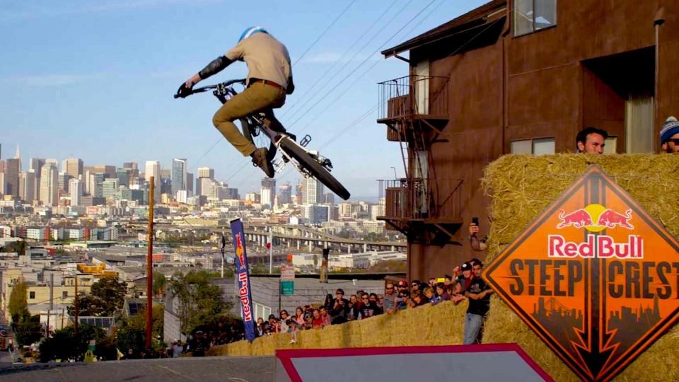 Bike Racing Down Steep San Francisco Streets – Red Bull Steep Crest 2014