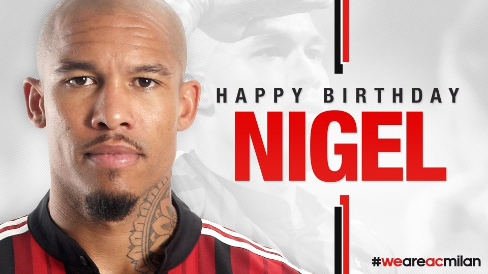 Buon compleanno De Jong. Happy Birthday Nigel! | AC Milan Official