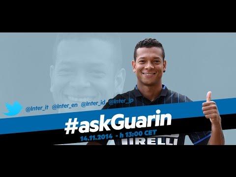Live! #askGuarin @inter  Fredy Guarin in diretta streaming 14.11.2014  13:00 CET