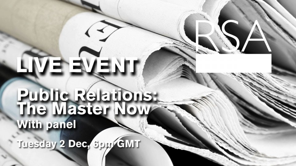 LIVE EVENT: Public Relations: The Master Now