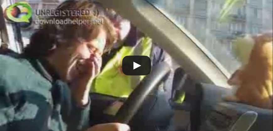 Divertentissimo, orsacchiotto prende in giro la polizia.