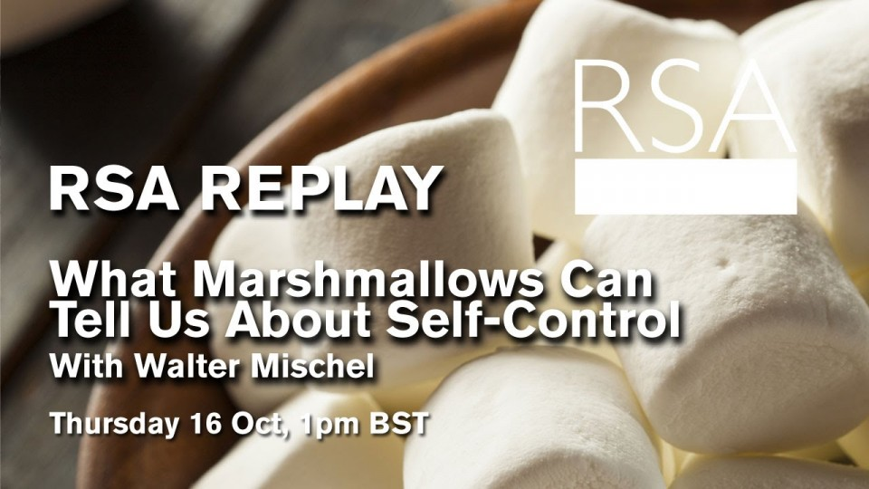 RSA Spotlight: Walter Mischel on What Marshmallows Can Tell Us About Self-Control