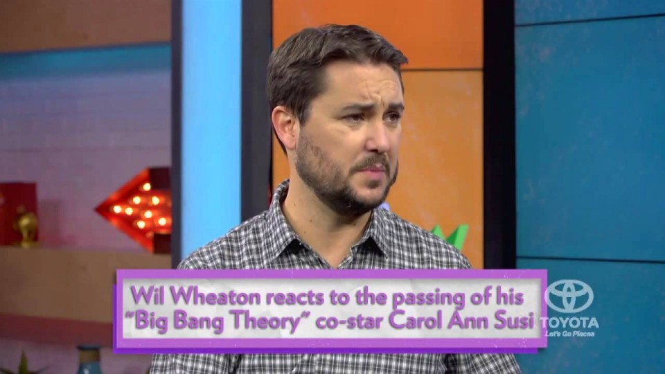 Wil Wheaton Shares Big Bang Theory Cast's Heartbreak over Death of Carol Ann Susi | PEOPLE Now