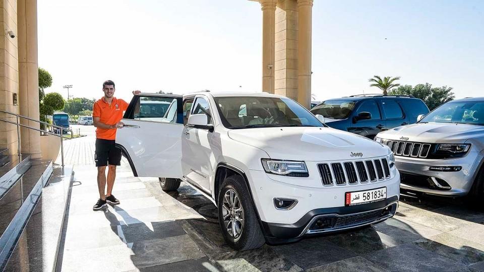 Doha: Morata all'allenamento con Jeep – Doha: Morata travels to training in a Jeep