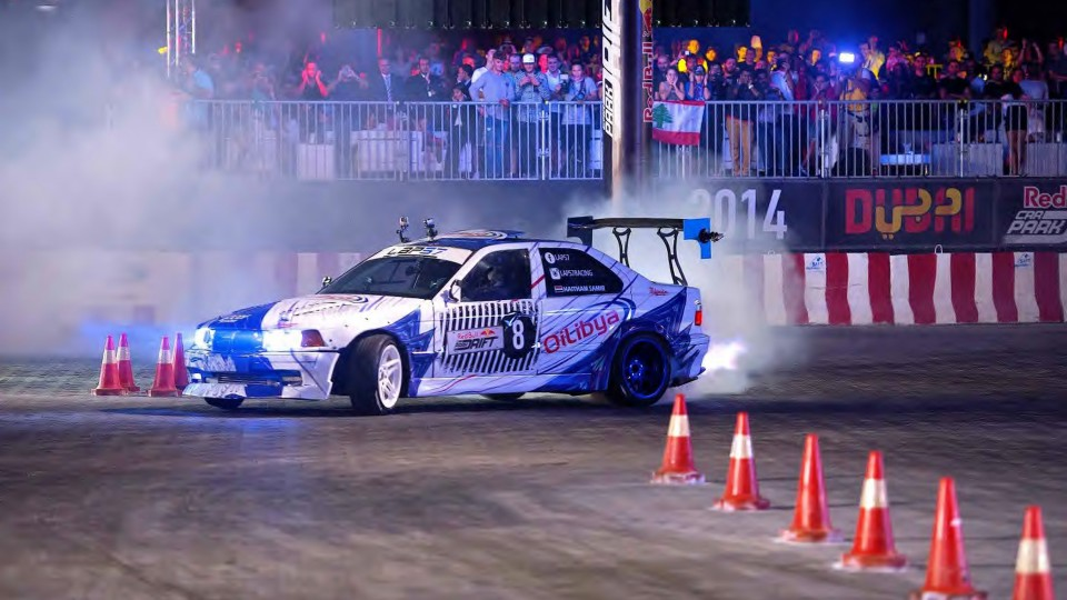 High Speed Drifting in Dubai – Red Bull Car Park Drift Grand Final 2014