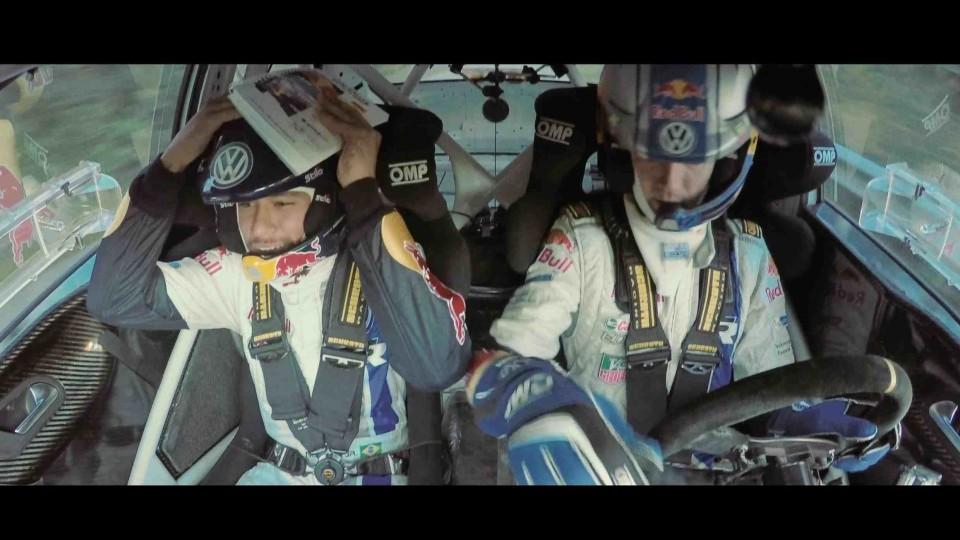 Neymar Attempts to Co-Pilot a Rally Car with Sébastien Ogier