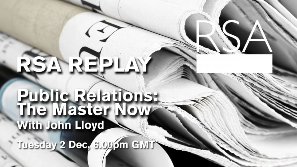 RSA Replay: Public Relations: The Master Now