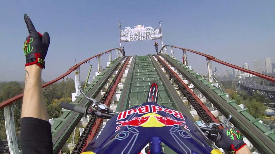 Trials Motorcycle on a Roller Coaster – Red Bull Roller Coaster