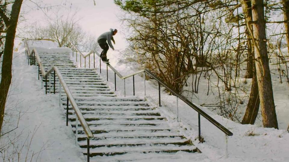 "Wojtek ""Gniazdo"" Pawlusiak's Street Snowboarding Part – Perceptions"