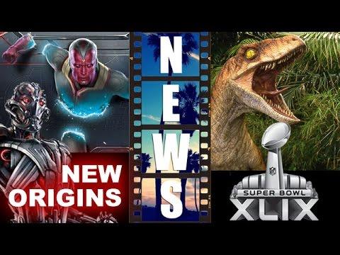 Avengers 2 – Ultron & Vision NEW Origins! Jurassic World Super Bowl 2015! – Beyond The Trailer