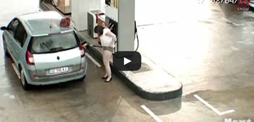 Quello che può accadere ad un distributore di benzina