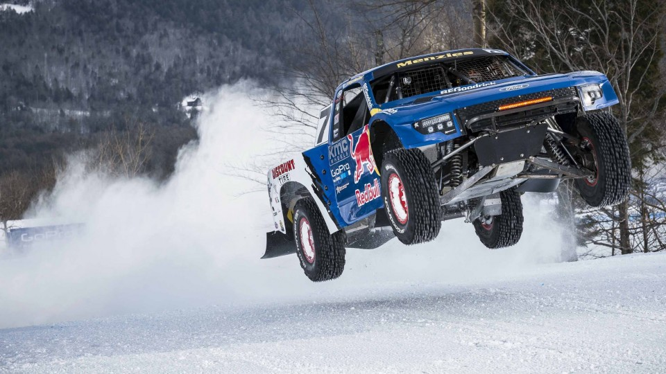 Pro-4 Truck Ride-along w/ Bryce Menzies – Red Bull Frozen Rush 2015