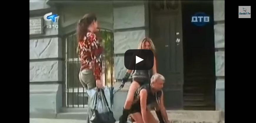 Coppia Sado, porta il marito a fare una passeggiata al guinzaglio
