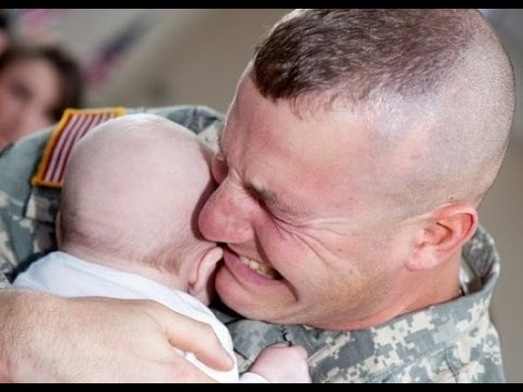 Soldier Meets Baby for First Time Compilation 2014 [NEW HD]