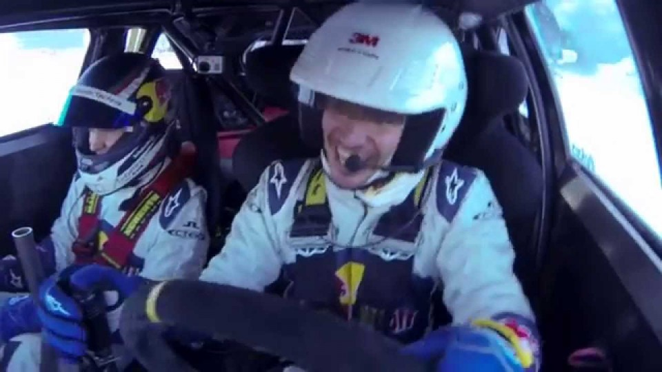 Driving a Rallycross Car on Ice w/ Felix Neureuther