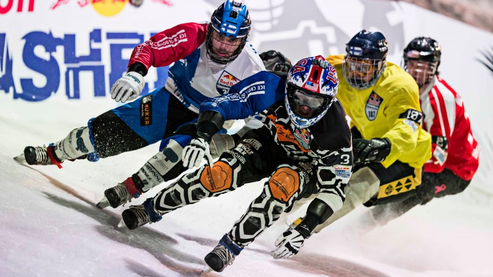 High Speed Ice Cross Downhill Racing in Helsinki