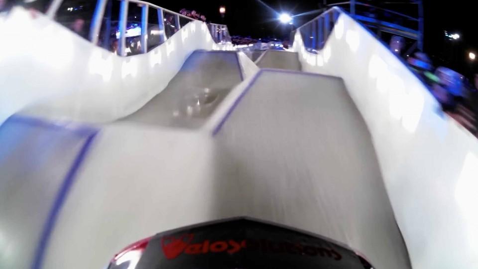Ice Cross Downhill POV w/ Claudio Caluori