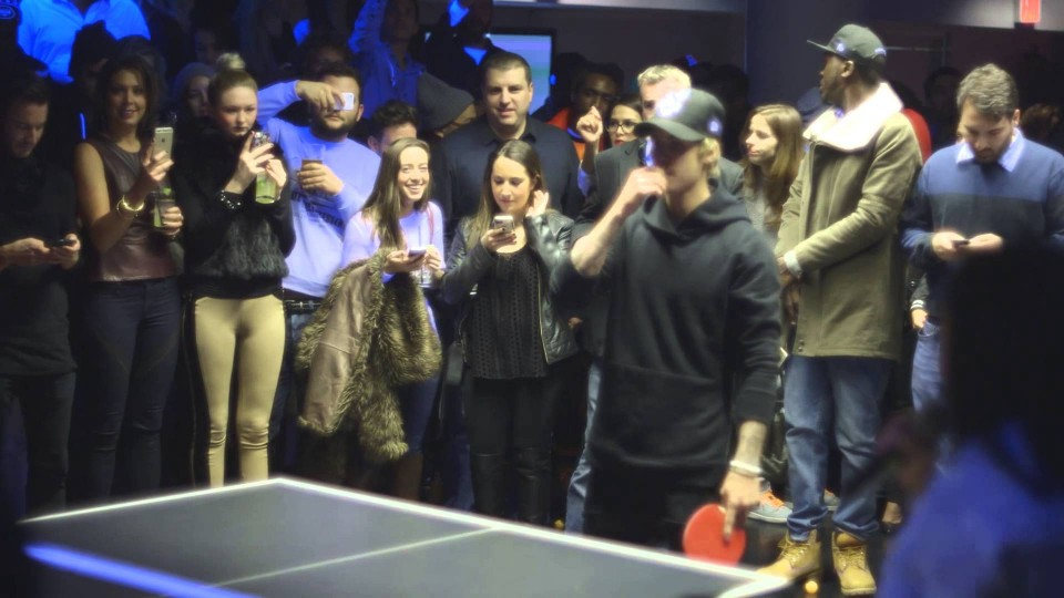 Justin Bieber Destroys People at Ping Pong