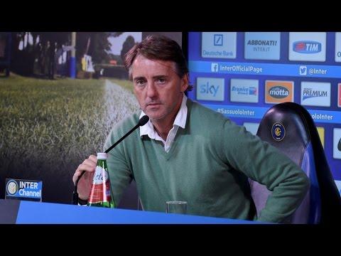 Live! Conferenza stampa Roberto Mancini prima di Cagliari-Inter 22.2.2015 h:13:30CET