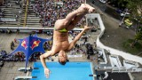 Qualifying for the Red Bull Cliff Diving World Series