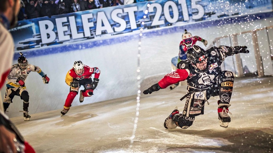 Scott Croxall's Winning Ice Cross Run – Red Bull Crashed Ice 2015
