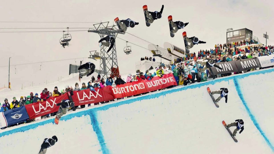 Snowboard Halfpipe Finals at the Burton European Open