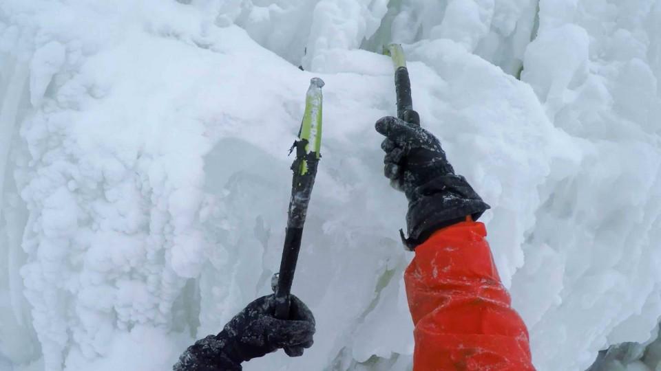 What it Looks Like to Climb Frozen Niagara Falls