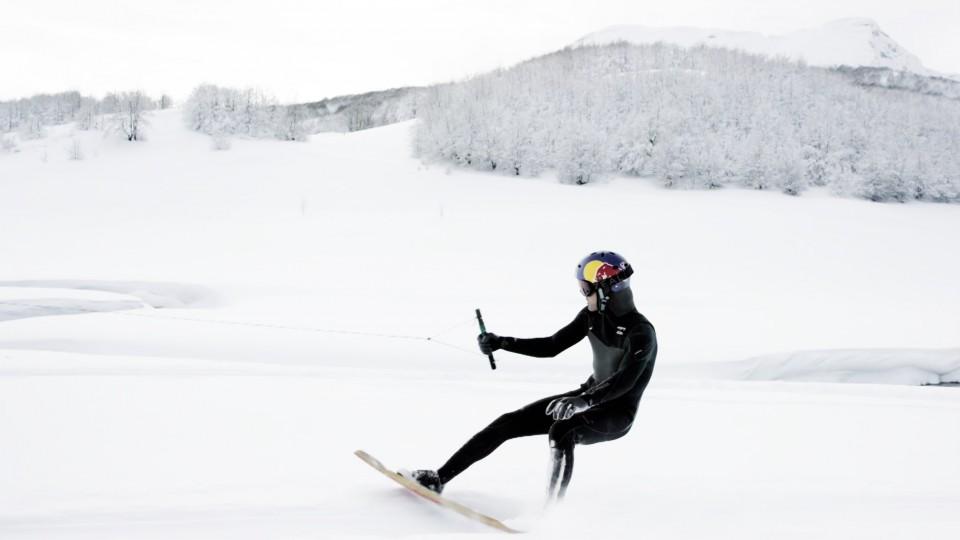 Winter wakeskate wonderland w/ Brian Grubb