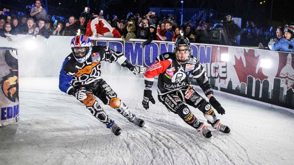 Cameron Naasz Winning DH Ice Cross Run – Red Bull Crashed Ice 2015