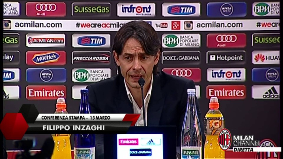 "Inzaghi: ""Contro la Fiorentina serve una grande gara"" | AC Milan Official"