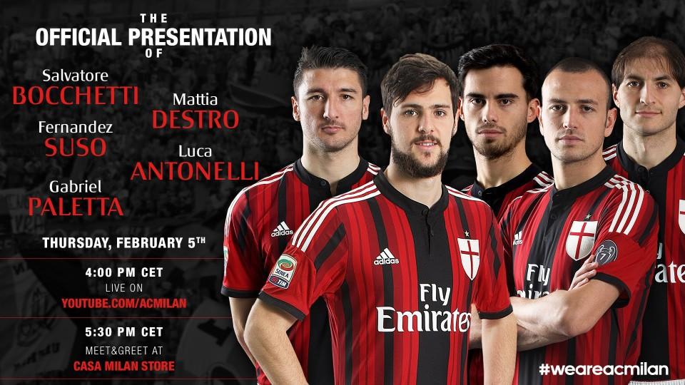 La nuova cinquina rossonera – Presentazione ufficiale | AC Milan Official