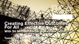 LIVE EVENT: Creating Effective Outcomes For All