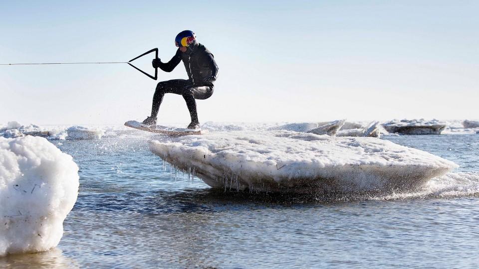 Wakeskating Icebergs in Cape Cod w/ Brian Grubb